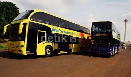 Mercy: Bus Double Decker Hibah dari Tahir Foundation Sudah Jalan
