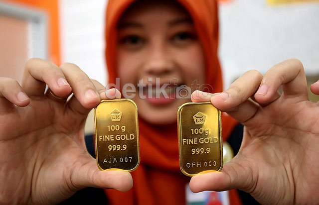 Harga Emas Antam Turun, Jadi Rp 546.000/Gram
