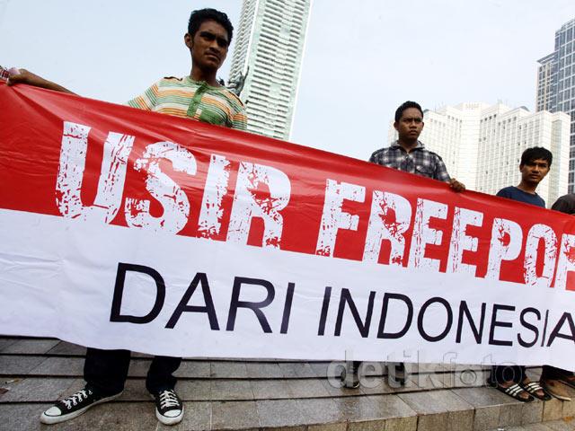 Hmi Gelar Aksi Demo Usir Freeport Di Bunderan Hi