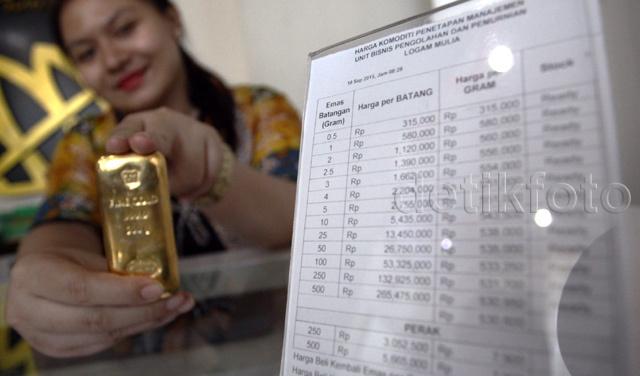 Harga Emas Balik Lagi ke Rp 547.000/Gram