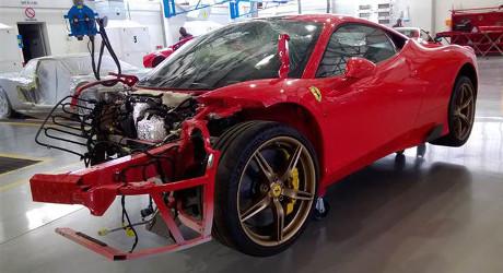 Ferrari 458 Speciale yang Hancur Ini Dilelang Rp 961 Juta