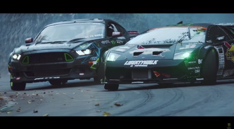 Kerennya Battle Drift Lamborghini vs Mustang RTR