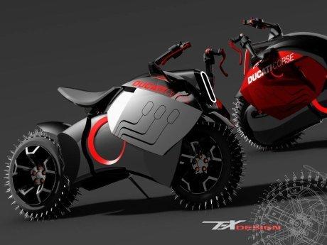 Beginikah Tampilan Motor Listrik Ducati ?