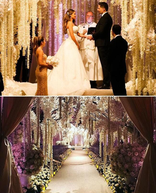 Pernikahan Penuh Bunga Sofia Vergara