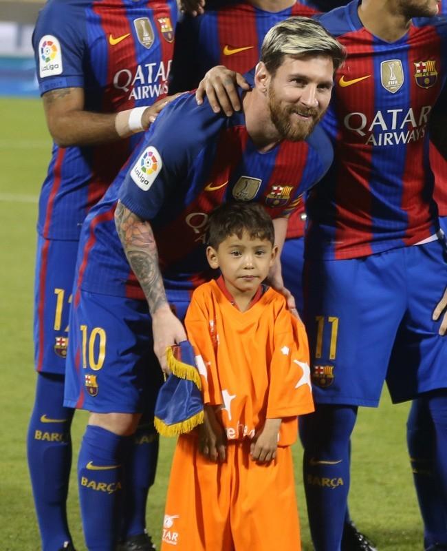 Murtaza Kecil dan Lionel Messi