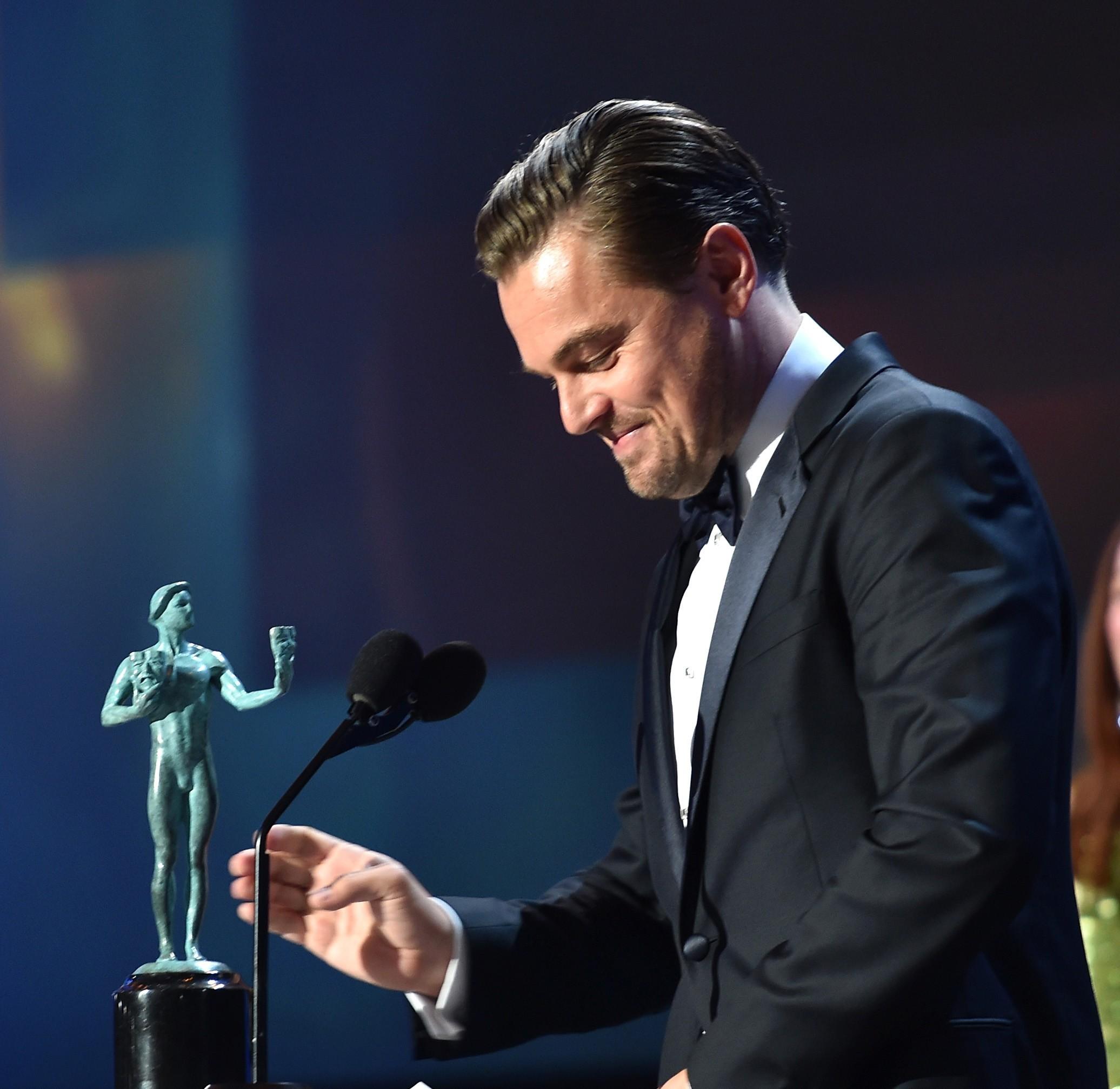 Leonardo DiCaprio Raih Oscar Pertama