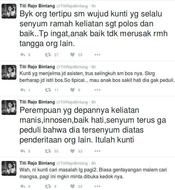 Titi Rajo Bintang Mrah-marah di Twitter