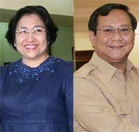 Datang ke MK, Mega-Prabowo Disambut Lagu Maju Tak Gentar