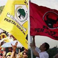 PDIP dan Golkar Tentukan Wajah Parlemen Mendatang