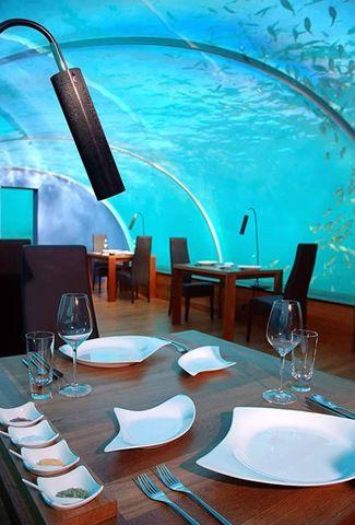 Restoran bawah laut (Sumber: amazingdata.com)
