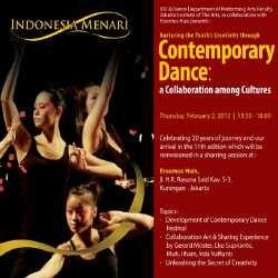 Seminar Tari Jadi Pemanasan Indonesia Dance Festival 2012