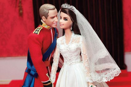 Ultah Pernikahan, Pangeran William & Kate \Jadi\ Boneka Barbie