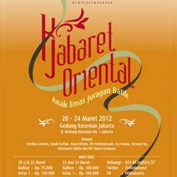 Kabaret Oriental \Anak Emas Juragan Batik\ Siap Dipentaskan