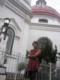 Di depan Gereja Blenduk