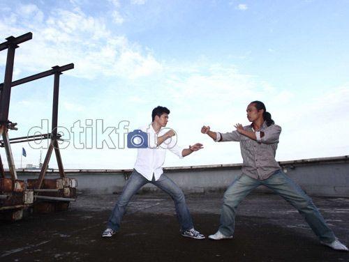 Iko Uwais & Yayan Ruhiyan aktor The Raid (detikFoto)