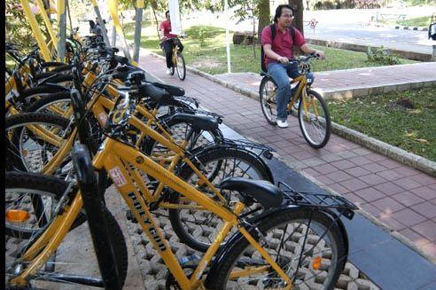 Penyewaan sepeda dan jalur sepeda di UI (alymerenung.wordpress.com)
