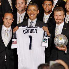 Obama Dikunjungi LA Galaxy, Candai Beckham