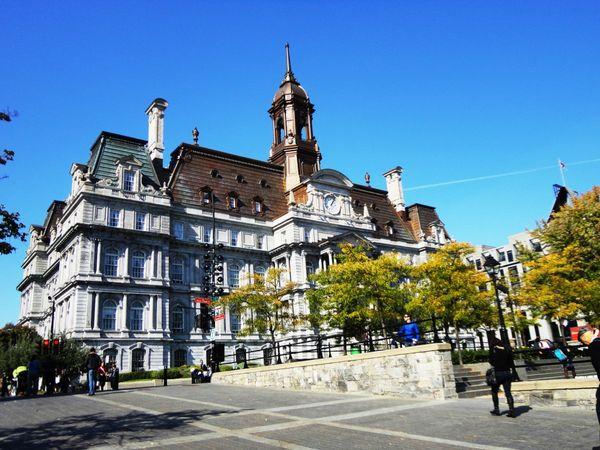 Pemandangan cantik di tengah kota montreal, kanada