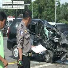 1 Orang Tewas Akibat Tabrakan Beruntun di Tol Amplas Medan