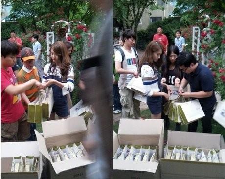 Yoona \SNSD\ Bagikan Vitamin untuk Seluruh Kru \Love Rain\