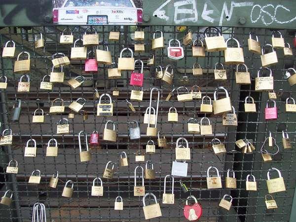 Gembok cinta di Jerman (Fitraya - detikTravel)