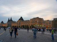 Malam hari yang masih terang di Moskow. (Daniel/detikTravel)