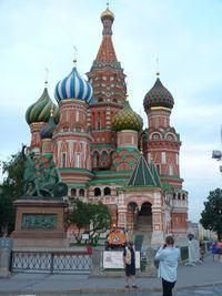 Turis paling sering berfoto di Katedral Saint Basil. (Daniel/detikTravel)