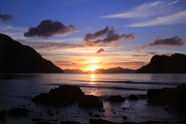 Sunset time El Nido, Palawan
