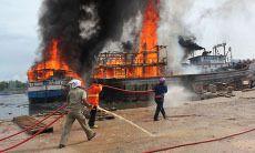 Muatan 3 Kapal yang Terbakar di Dumai Riau Ludes