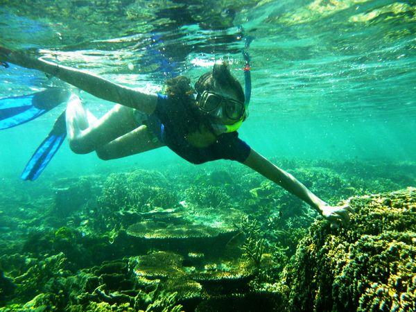 here I'm loving snorkeling somuch