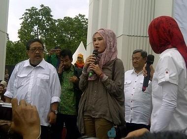 Rekan Artis Ramaikan Deklarasi Deddy Mizwar Jadi Cawagub Aher