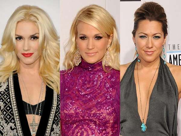 Gaya Rambut Selebriti Perempuan di AMA 2012