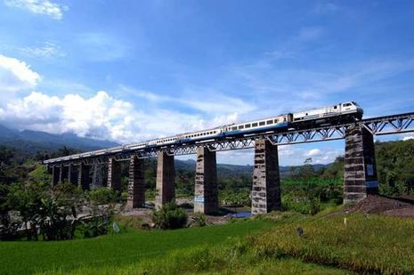 Jalur Kereta di Jawa dengan Pemandangan Paling Indah