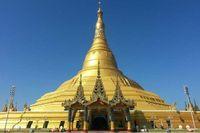 Myanmar rupanya masih punya pagoda emas lain, yaitu Pagoda Uppatasanti di Kota Naypyidaw (Kris Fathoni/detikTravel)