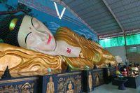 Pembangunan patung Buddha ini menghabiskan 500 sak semen karena merupakan patung padat yang dicor, bukan rangka kosong. Orang yang membuat patung pun menjalani ritual khusus yaitu menjadi vegetarian (Fitraya/detikTravel)