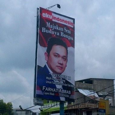 Ini Serius! Farhat Abbas akan Pasang Balihonya di Seluruh Indonesia