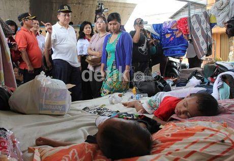 pengungsi akibat banjir di Jakarta