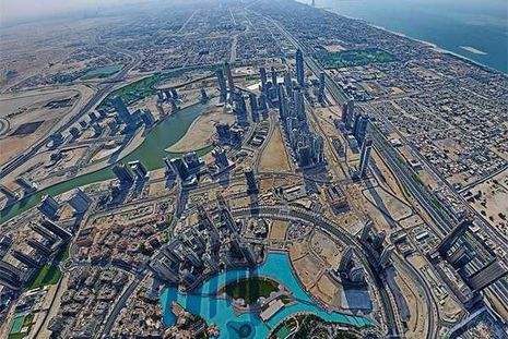 Begini Nih Pemandangan dari Atas Burj Khalifa, Dahsyat!