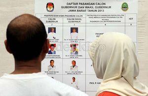 Real Count Sementara KPU Jabar, Aher Masih Nomor Satu