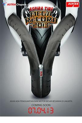 Aspira Tire Akan Pecahkan Rekor MURI Ganti Ban Motor Terbanyak 2013