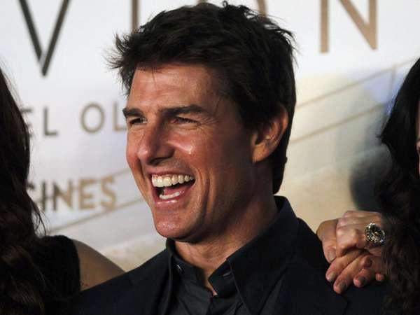 Wajah Sumringah Tom Cruise