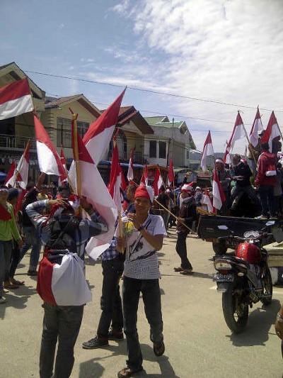 Lagi, Seribuan Warga Gayo Lues di Aceh Konvoi Bendera Merah Putih