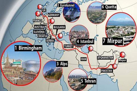 Rute Bus Terpanjang di Dunia, Dari Inggris ke Pakistan!