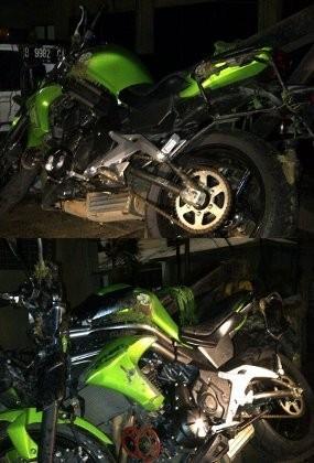 Ini Foto Moge Ustad Jeffry yang Mengalami Kecelakaan di Pondok Indah
