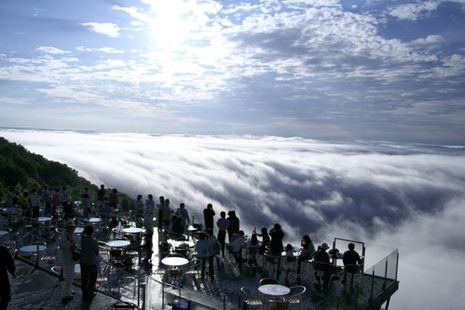 Di Jepang, Wisatawan Bisa Makan di Atas Awan