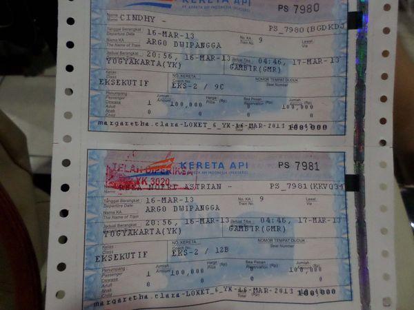 Tiket Kereta Api Argo Dwipangga Rp. 100.000