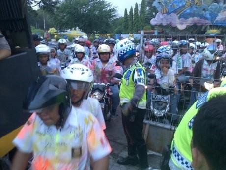 Konvoi Kelulusan UN di Semarang Dirazia, Siswa Ditahan di Taman Bermain