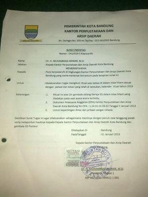Pembuat Surat Perintah Ritual Seks Bebas di Bandung Anak PNS Perpusda