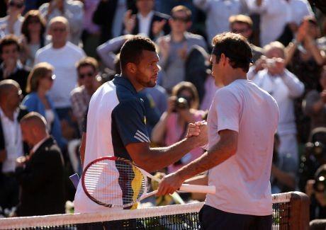 Tsonga Hentikan Laju Federer