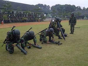 Bumm! Belasan Mortir Ditembakkan dalam Latihan TNI AD di Bandung